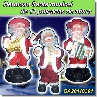 Lee el articulo completo HERMOSO SANTA MUSICAL DE 12 PULGADAS DE ALTURA