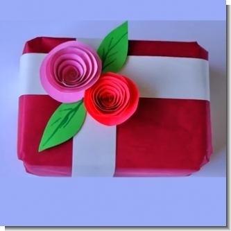 Lee el articulo completo Decoracion para envoltorio de regalo